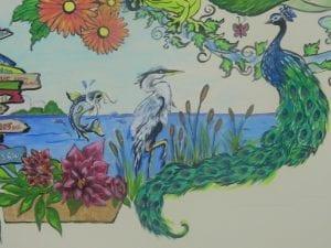 mural peacock
