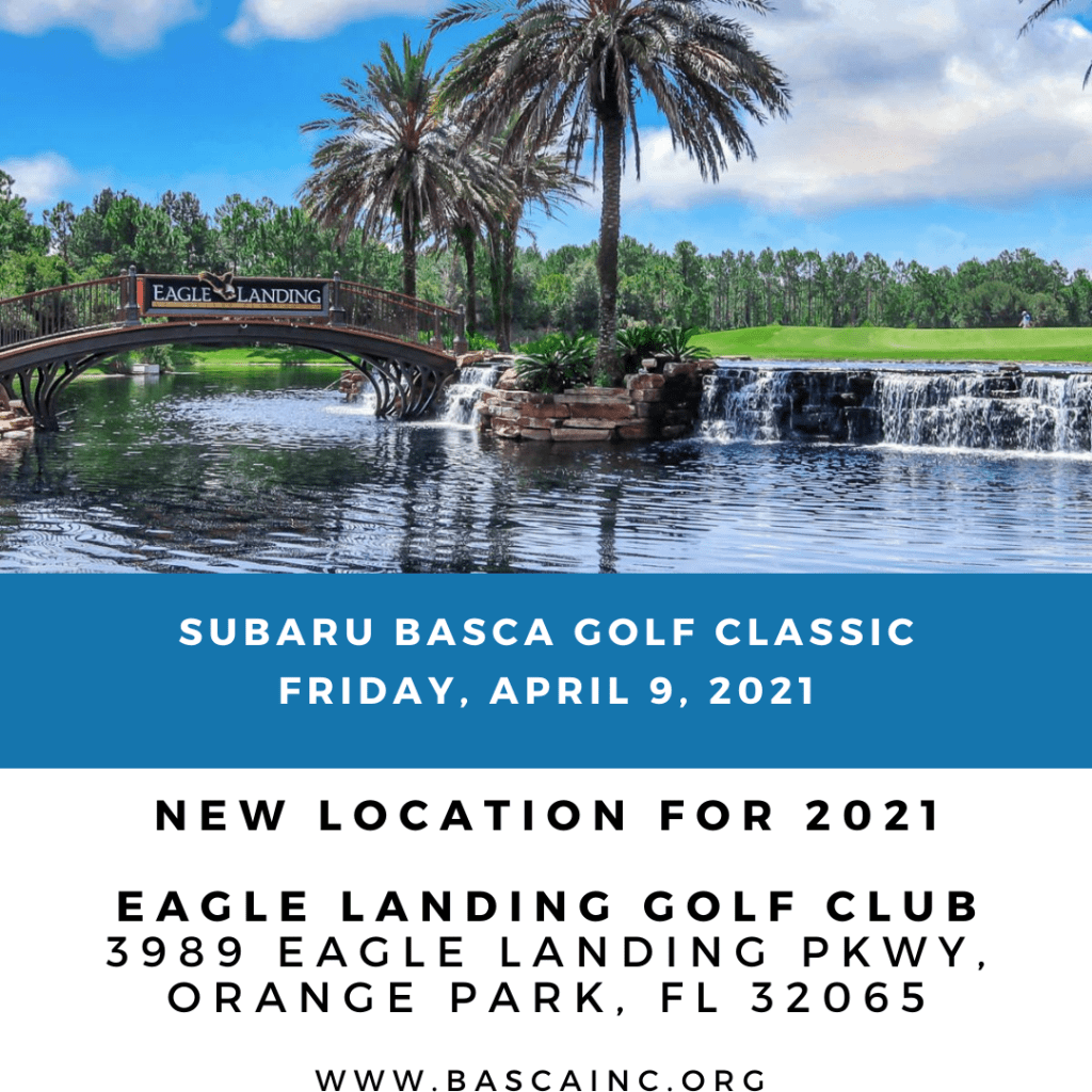 graphic showing new golf tournament location is Eagle Landing
