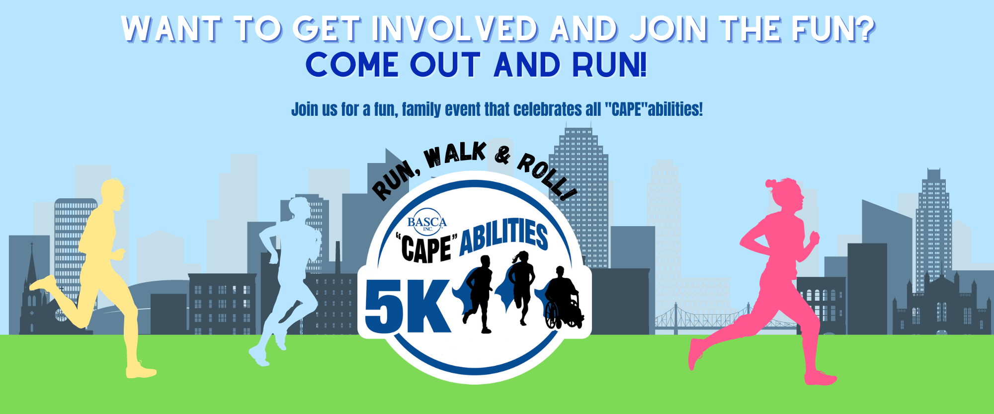 Banner for 5K event