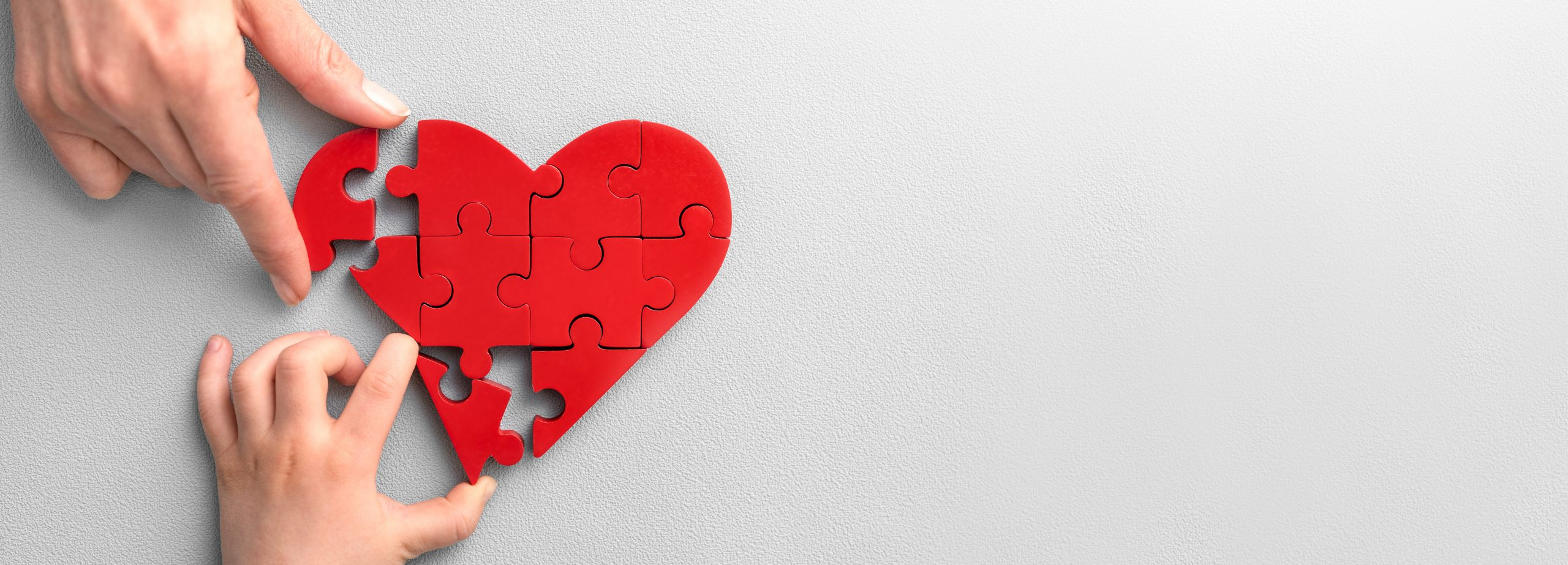 heart puzzle represents concept of charitable giving